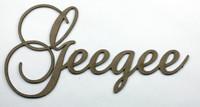 Geegee - Fancy Chipboard Words