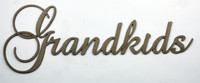 Grandkids - Fancy Chipboard Word