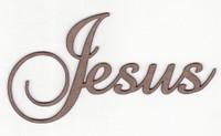 Jesus - Fancy Chipboard Word