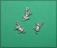 Cat Charm - Antique Silver