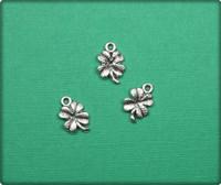 Four Leaf Clover Charm - Antique Silver