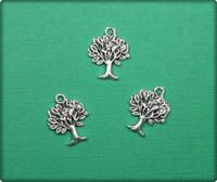 Aspen Tree Charm - Antique Silver