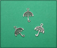 Umbrella Charm - Antique Silver