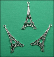 Eiffel Tower Charm - Antique Silver