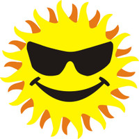 Sun with Happy Face - Laser Die Cut