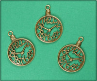 Pocket Watch Charm - Antique Brass