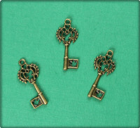 Owl Key Charm - Antique Brass