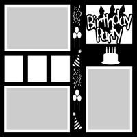 Birthday Party - 12x12 Overlay