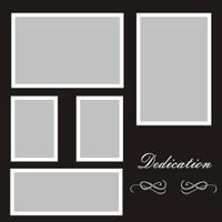 Dedication - 12x12 Overlay