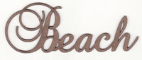 Beach - Fancy Chipboard Word
