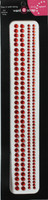 "Sleek Strips 6"" Rhinestones - Red"