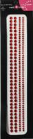 """Sleek Strips 6"""" Rhinestones - Red"""
