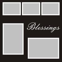 Blessings - 12x12 Overlay