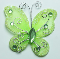 "Butterfly - 2"" Apple Green"