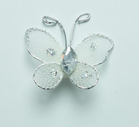 "Butterfly - 1"" Ivory"