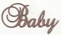 Baby - Fancy Chipboard Word