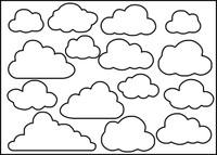Clouds  - Stencil 8x10