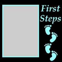 First Steps - Blue - 6x6 Overlay