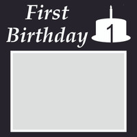 First Birthday - 6x6 Overlay