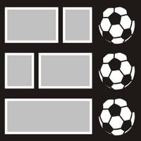 Soccerballs - 12x12 Overlay