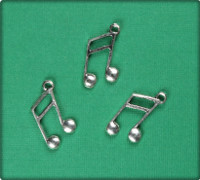 Ottava Musical Symbol (Large) - Antique Silver