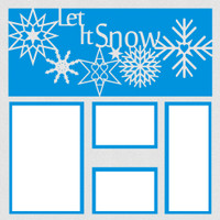 Let it Snow with White Glitter Paper - 12x12 Overlay