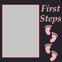First Steps - Pink - 6x6 Overlay