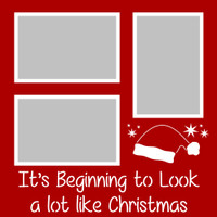 It's Beginning to Look a lot like Christmas - 12x12 Overlay