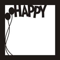Happy - 12x12 Overlay