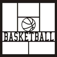Basketball with Ball - 12x12 Overlay