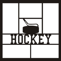 Hockey with Puck and Stick - 12x12 Overlay