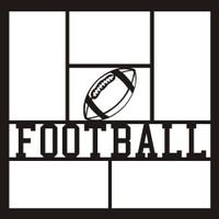 Football with Ball - 12x12 Overlay