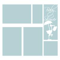 Baby Shower Blue  - 12x12 Overlay