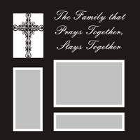 The Family that Prays Together - 12x12 Overlay
