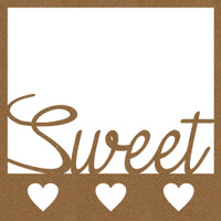 Sweet Heart with Frame Chpd Embellishment