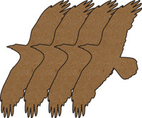 Eagles Chipboard Embellishments - Pack of 4