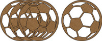 Soccerballs 4 Pack - Chipboard Shapes