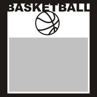Basketball with Ball - 6x6 Overlay