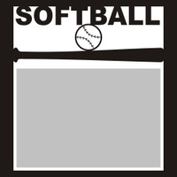 Softball with Ball - 6x6 Overlay