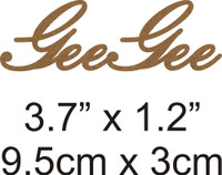GeeGee - Beautiful Script Chipboard Word