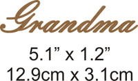 Grandma - Beautiful Script Chipboard Word