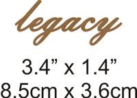 Legacy  - Beautiful Script Chipboard Word
