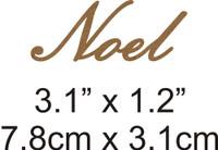Noel - Beautiful Script Chipboard Word