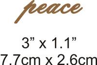 Peace - Beautiful Script Chipboard Word