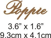 Poppie - Beautiful Script Chipboard Word