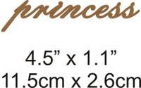 Princess - Beautiful Script Chipboard Word
