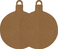 "Ornaments Large Round 4"" 2 Pack - Chipboard Shapes"
