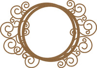 Frame - Round Flourish - Chipboard Embellishment