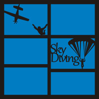 Skydiving - 12x12 Overlay