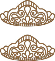 Tiara (2 per package) - Chipboard Embellishment